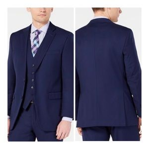 NWOT Perry Ellis Slim Fit Stretch Navy Jacket